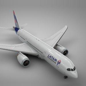 3D boeing 787 dreamliner latam