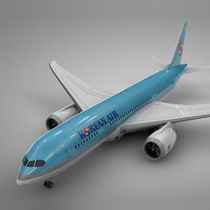 3D boeing 787 dreamliner korean model
