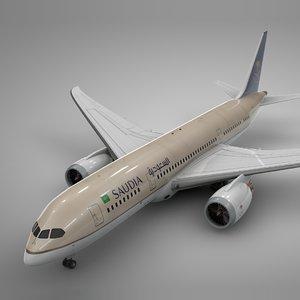 boeing 787 dreamliner saudia 3D model