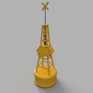 3D simple ocean buoy model