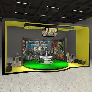 betting exhibition stand 3D