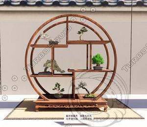 3D bonsai shelf