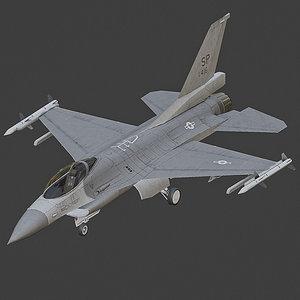 3D model jet aircraft