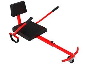 3D board hover hoverboard model