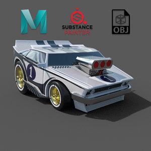 3D drag car model