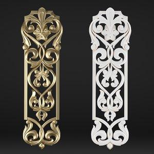 3D model decorative element