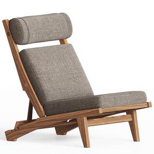 3D model lounge chair hans j