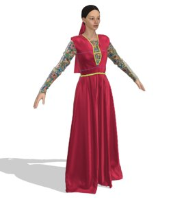 3D model woman clothes