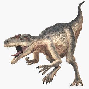 3D allosaurus dinosaur