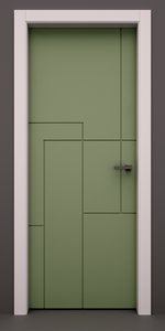 set 5 stylish interior doors model