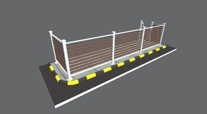 3D iron fence house