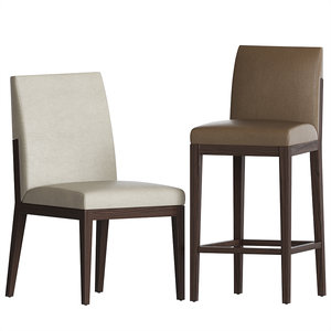 alia chair barstool set 3D