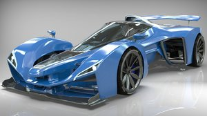 delage car 3D model