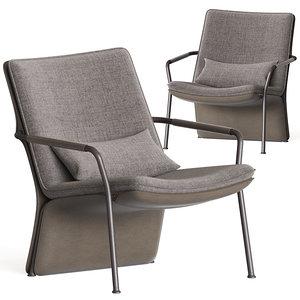 arabesque armchairs poltrona frau 3D