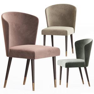 ninfea dining chair capital 3D model