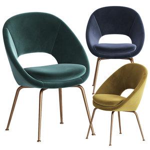 3D orb velvet dining chair