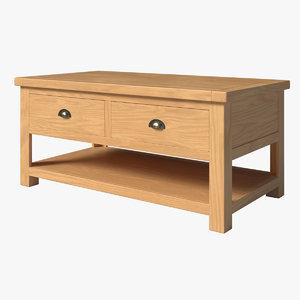 pbr wood oak model