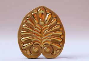 3D jewish wood carving model