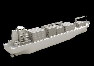 container boat 3D model