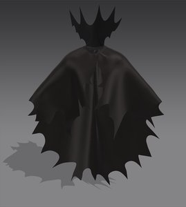 3D model vampiric bat cape