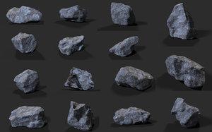 rocks games 3D model