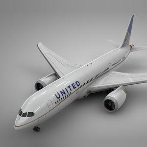 3D boeing 787 dreamliner united airlines