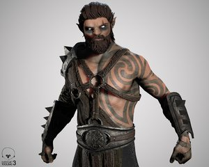 elf barbarian 3D model