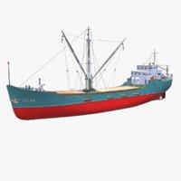 Coastal Supply Vessel Low-poly PBR