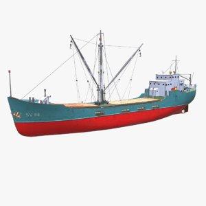supply vessel ship pbr model