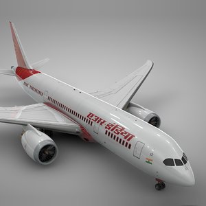 boeing 787 dreamliner air india 3D