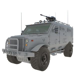 3D armored military vehicle v7 model