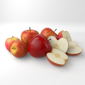 apple food 3D model