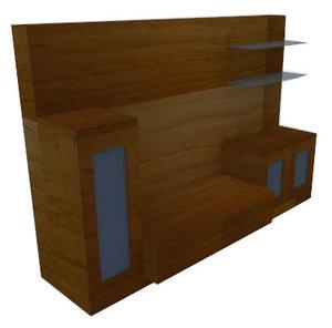 modern tv table 3D model