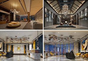 3D lobby scene interior