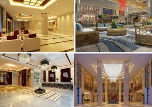 lobby scene interior 3D