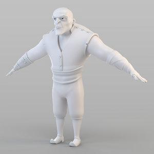 3D barbar man