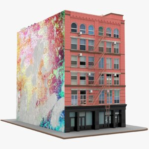 manhattan corner building 3D model