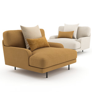 3D armchairs flaneur lounge chair model