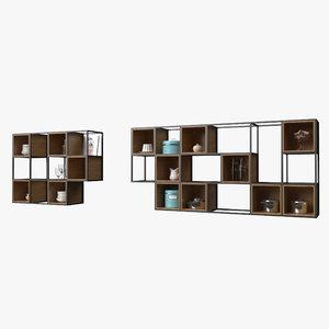 square shelf wall 3D model