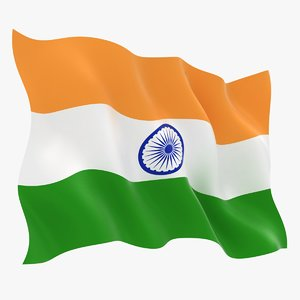 3D india flag animation model