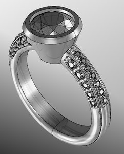 3D ring jewellery model
