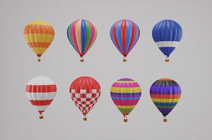 3D hot air balloon set