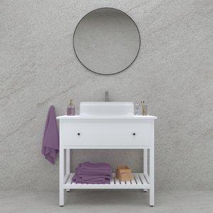 3D model bathroom furniture set sink