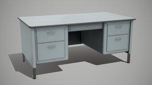 3D metal desk table