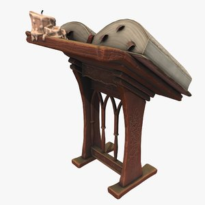 stylized lectern 3D model