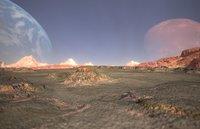 Desert Landscape Low-poly 3D model
