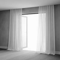 Animated Sheer Curtains with Interior Scene