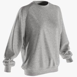 realistic women s sweater 3D model