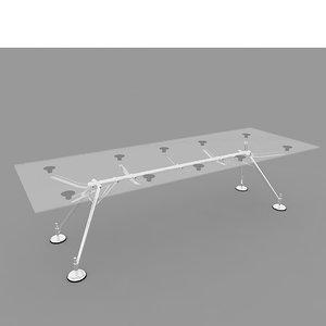 3D nomos techno table model