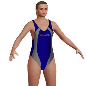 3D lifeguard blonde